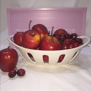 Rae Dunn •FRUIT• ceramic basket